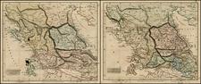 Balkans and Greece Map By John Arrowsmith
