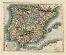 Spain Map By John Cary
