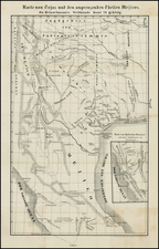 Texas, Plains, Southwest, Rocky Mountains, Mexico and California Map By Freidrich Heinzelmann