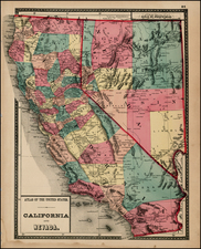 California Map By Henry Francis Walling  &  OW Gray