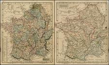 Netherlands and France Map By John Arrowsmith