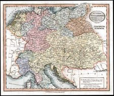 Europe, Europe, Germany, Austria and Baltic Countries Map By John Cary