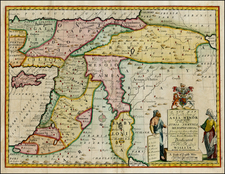 Turkey, Balearic Islands, Middle East and Turkey & Asia Minor Map By Edward Wells