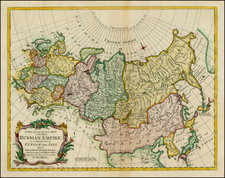 Alaska, Russia, China and Russia in Asia Map By Thomas Kitchin