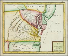 Mid-Atlantic and Southeast Map By Joseph De La Porte