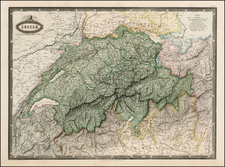 Switzerland Map By F.A. Garnier
