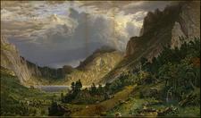 Colorado, Rocky Mountains and Colorado Map By Albert Bierstadt