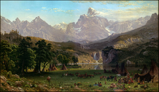 Rocky Mountains and Wyoming Map By Albert Bierstadt