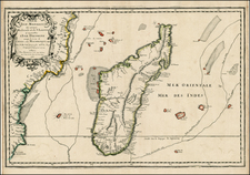 East Africa and African Islands, including Madagascar Map By Pierre Du Val