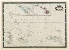 Hawaii, Australia & Oceania, Oceania, Hawaii and Other Pacific Islands Map By F.A. Garnier