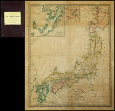 Japan Map By Edward Stanford