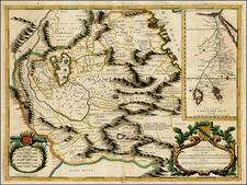 Egypt, North Africa and East Africa Map By Vincenzo Maria Coronelli