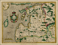 Poland and Baltic Countries Map By  Gerard Mercator