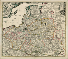Poland and Baltic Countries Map By John Senex