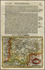 Romania and Balkans Map By Jodocus Hondius / Samuel Purchas