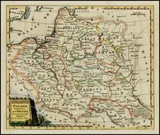 Poland, Baltic Countries, Balkans and Germany Map By Thomas Kitchin