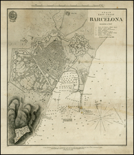 Spain Map By J & C Walker / British Admiralty