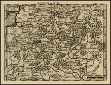 Baltic Countries Map By Henricus Hondius - Michael Mercator