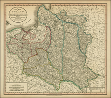 Poland, Russia and Baltic Countries Map By John Cary