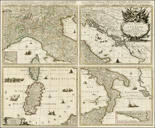 Italy and Balearic Islands Map By Johannes Covens  &  Cornelis Mortier