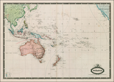 Hawaii, Australia & Oceania, Pacific, Oceania, New Zealand, Hawaii and Other Pacific Islands Map By F.A. Garnier