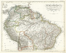 South America Map By Adolf Stieler