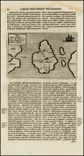 World, Atlantic Ocean, Caribbean, South America, African Islands, including Madagascar, America and Balearic Islands Map By Athanasius Kircher