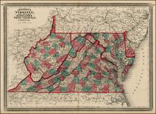 Mid-Atlantic and Southeast Map By Alvin Jewett Johnson