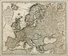Europe and Europe Map By Guillaume De L'Isle / Jean-Claude Dezauche