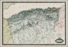 North Africa Map By F.A. Garnier