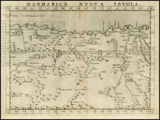 North Africa Map By Girolamo Ruscelli