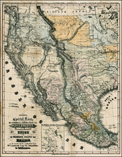 Texas, Plains, Southwest, Rocky Mountains and California Map By Bruno Schmolder
