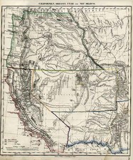 Southwest, Rocky Mountains and California Map By Carl Flemming