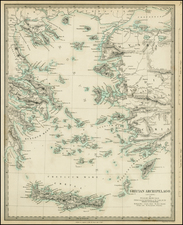 Balearic Islands and Greece Map By SDUK