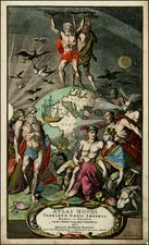 World, Curiosities and Title Pages Map By Johann Baptist Homann