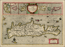 Greece, Mediterranean and Balearic Islands Map By Gerard Mercator