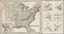 United States and Plains Map By Archibald Fullarton
