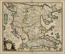 Balkans and Greece Map By Willem Janszoon Blaeu