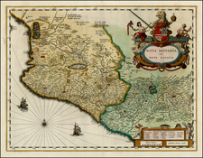 Mexico Map By Willem Janszoon Blaeu