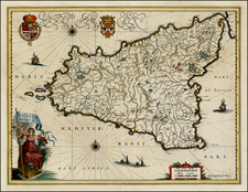 Italy and Balearic Islands Map By Willem Janszoon Blaeu
