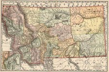 Plains and Rocky Mountains Map By William Rand  &  Andrew McNally