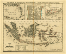 Caribbean, South America, Southeast Asia and West Africa Map By Philippe Marie Vandermaelen