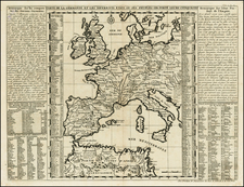 Europe, Europe, Germany, Baltic Countries and Mediterranean Map By Henri Chatelain