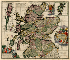 Scotland Map By Carel Allard
