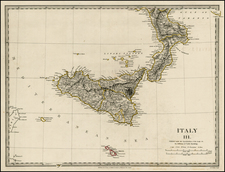 Italy and Balearic Islands Map By SDUK