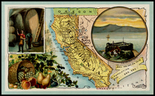 California Map By Arbuckle Brothers Coffee Co.