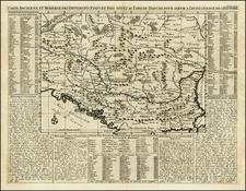 Ukraine, Hungary and Balkans Map By Henri Chatelain