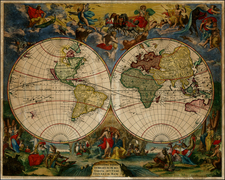 World and World Map By Johannes De Ram