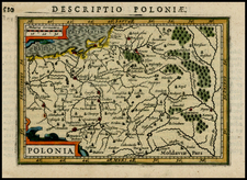 Poland and Baltic Countries Map By Pieter Bertius