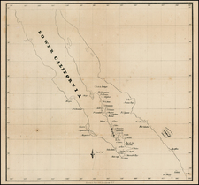 Baja California and California Map By Ackerman Lithg.